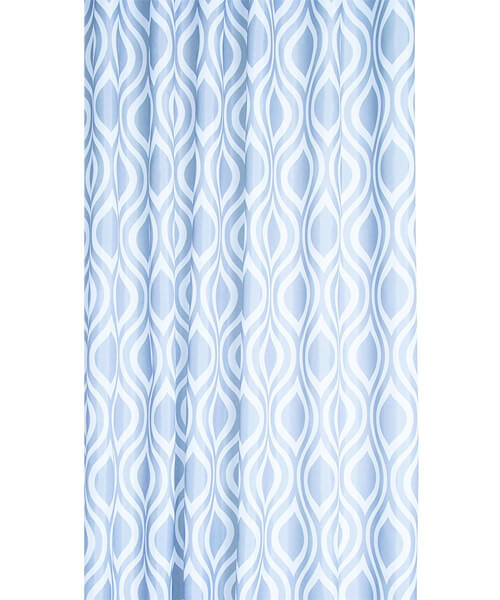 Additional image of Croydex Navy Pinstripe Textile Shower Curtain