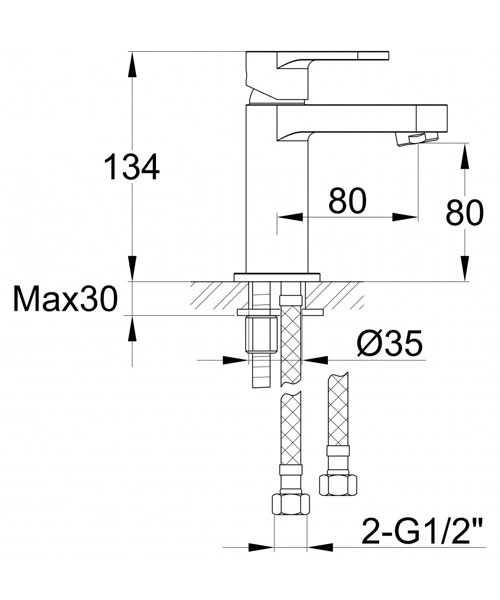 Technical drawing 60458 / DUSBAS