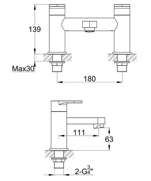 Technical drawing 60460 / DUBF