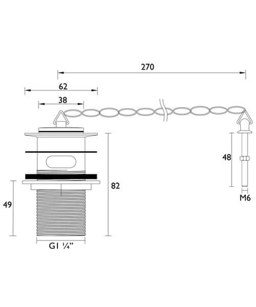 Technical drawing 51387 / W BASIN03 C
