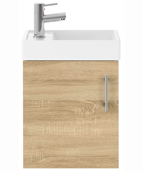 Additional image of Nuie Premier Vault 400mm Single Door Wall Hung Unit With Basin