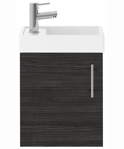 Alternate image of Nuie Premier Vault 400mm Single Door Wall Hung Unit With Basin