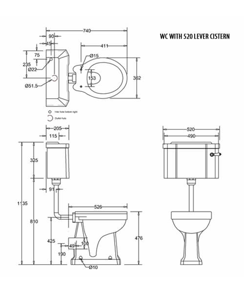 Technical drawing 43256 / P19