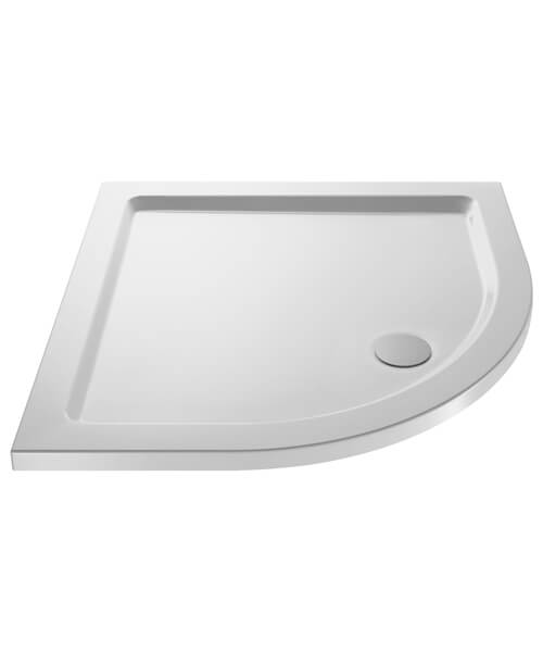 Hudson Reed Pearlstone 40mm Slimline ABS Acrylic Quadrant Shower Tray