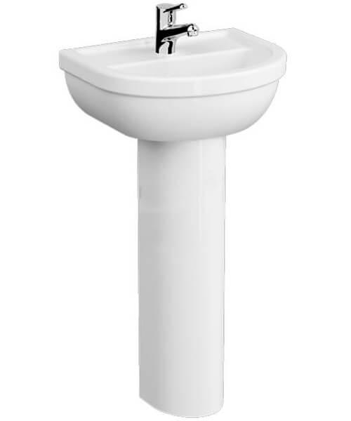 VitrA Milton 550mm 1 Tap Hole Washbasin