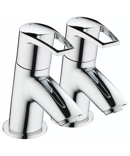 Bristan Smile Chrome Polished Pair Of Bath Taps