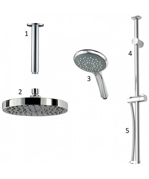 Additional image of Triton Dual Chrome Outlet Mixer Shower Combination Pack