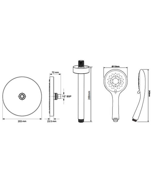 Technical drawing 54963 / TSPKDIVCRRCIR