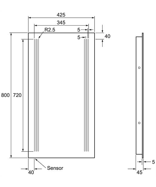 Technical drawing 8432 / MF8042A+