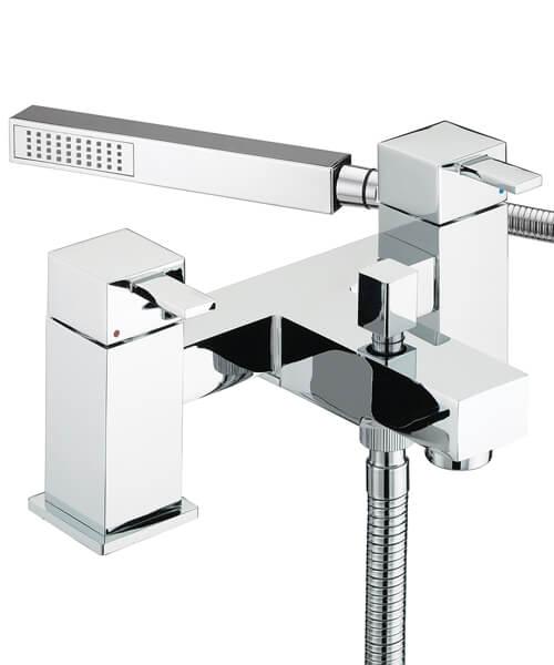 Bristan Quadrato Bath Shower Mixer Tap With Shower Kit