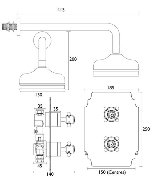 Technical drawing 48477 / SHDDUAL03