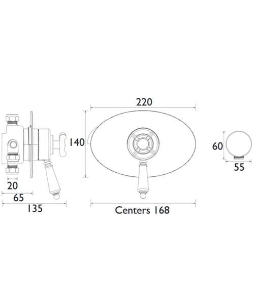 Alternate image of Bristan 1901 Thermostatic Dual Control Shower Valve