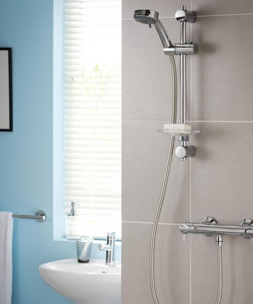 Triton Dene Lever Cool Touch Bar Mixer Shower Kit