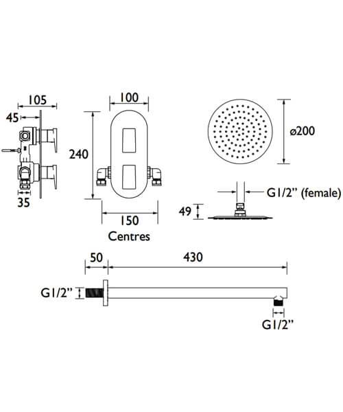 Technical drawing 51366 / SAIL SHWR PK