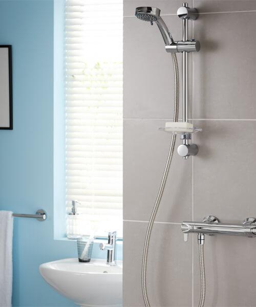 Triton Dene Lever Hi-Flo Bar Mixer Shower Kit
