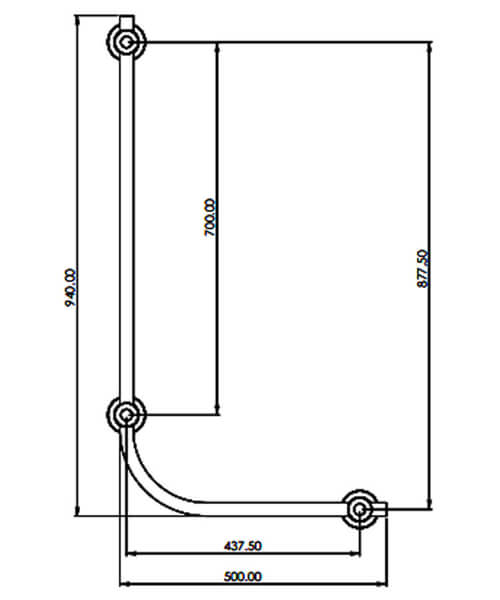 Technical drawing 61104 / TGRCARE90LCHR