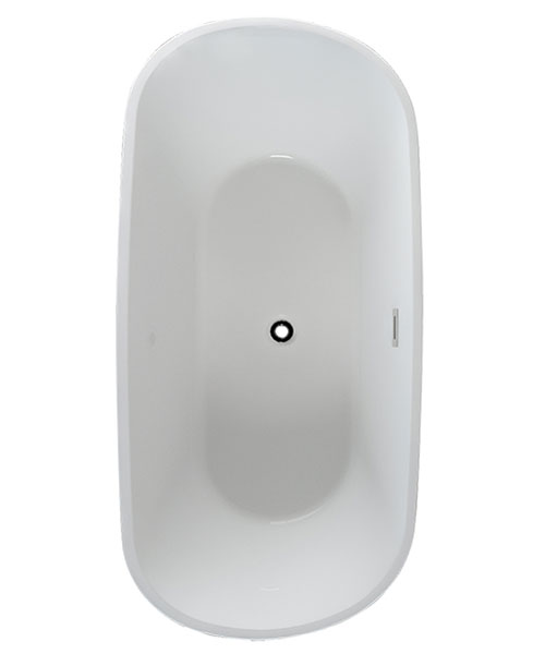 Pura Grace 1700 x 850mm Freestanding Bath With Overflow And Pop Up Waste