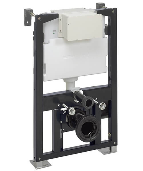 Crosswater Bauhaus WC Support Frame With Dual Flush Cistern 500mm Wide