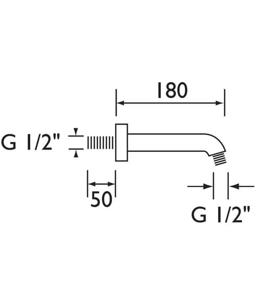 Technical drawing 4866 / ARM CTRD01 C
