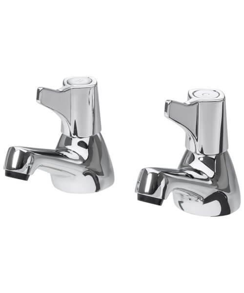 Additional image of Triton Exe Pair Of Basin Taps Chrome