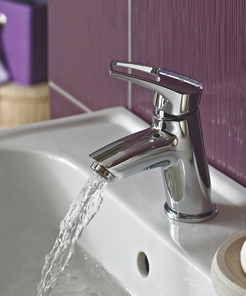 Additional image of Bristan Smile Chrome Fnish Basin Mixer Tap With Clicker Waste
