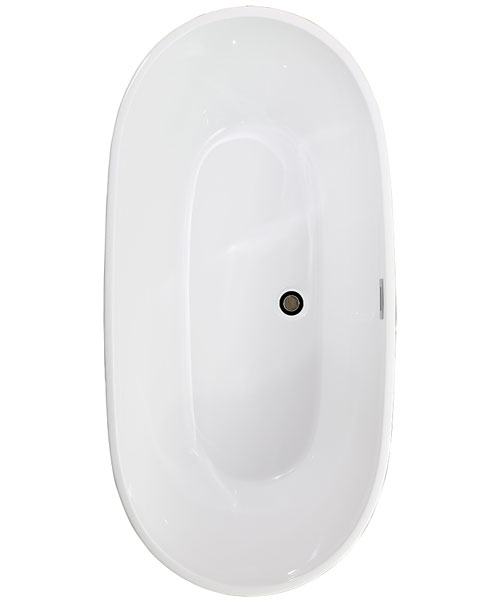 Pura Duro Freestanding Bath With Overflow And Pop Up Waste