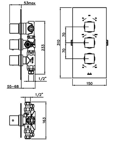Alternate image of Abode Zeal Chrome Concealed Thermostatic Shower Valve