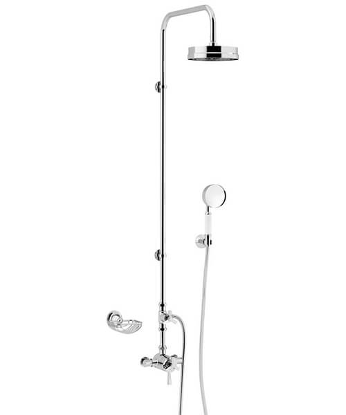 Heritage Gracechurch Exposed Thermostatic Shower Valve With Rigid Riser Kit
