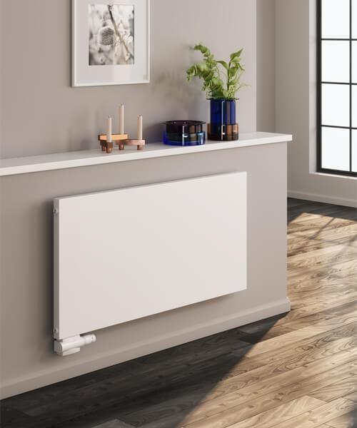 Alternate image of Reina Alpan 600mm High White Aluminium Horizontal Radiator