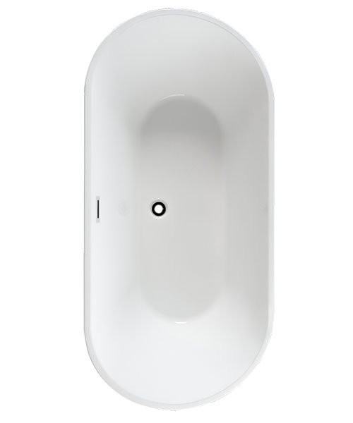 Pura Arco Slim 1700 x 800mm Freestanding Bath With Overflow And Pop Up Waste