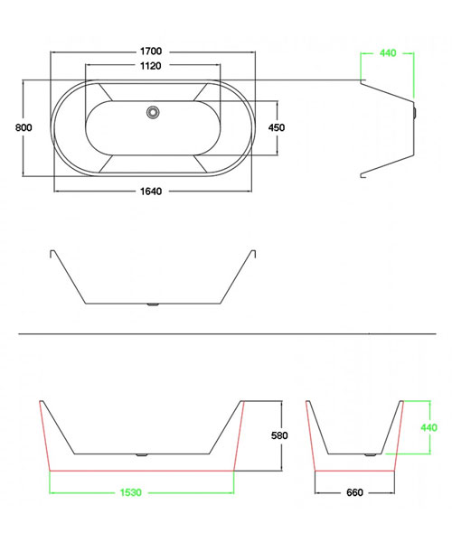 Technical drawing 60468 / PB106SLIM