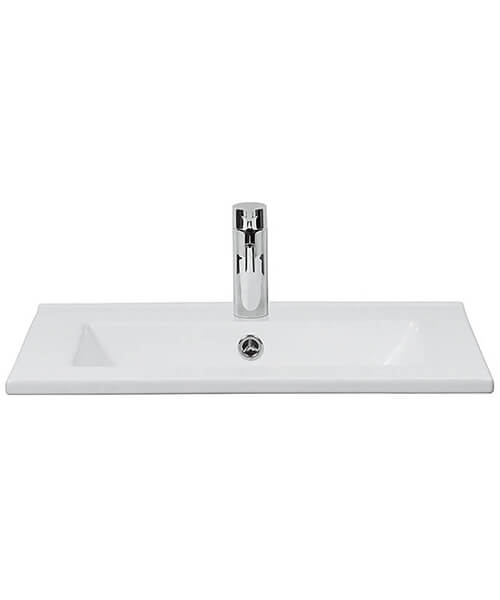 Bauhaus Glide 1 Tap Hole Inset Ceramic Basin With Overflow