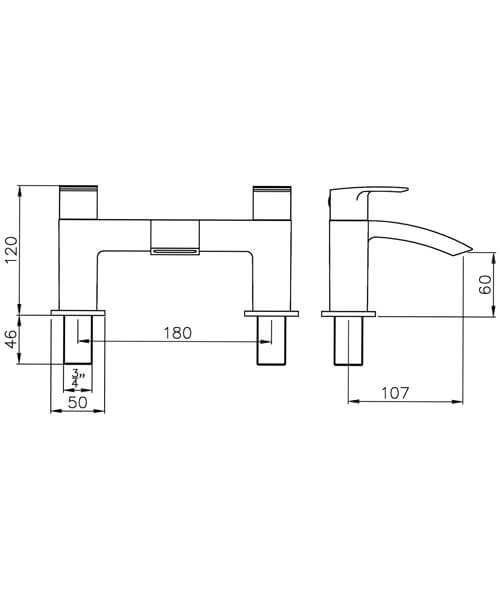 Technical drawing 61075 / AB2662