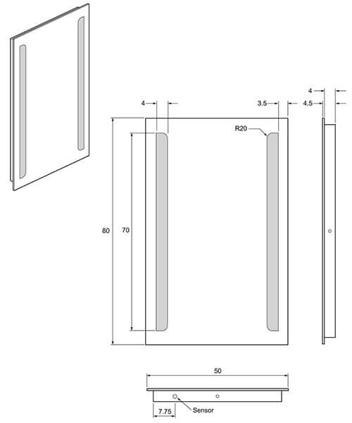 Technical drawing 33200 / ME8050B