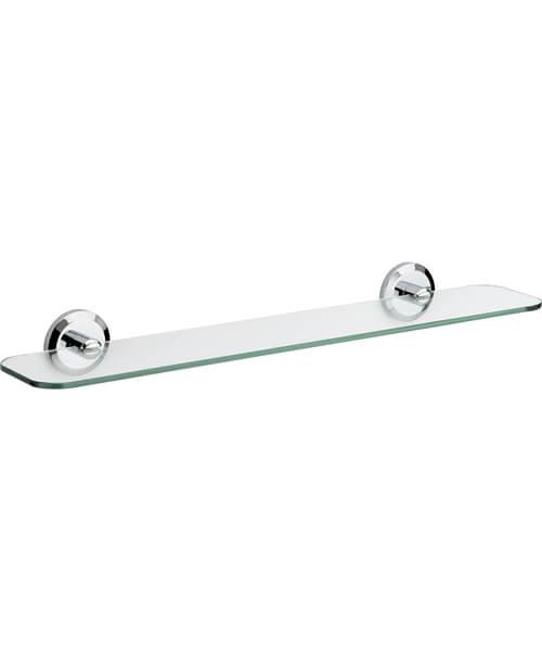 Bristan Solo Chrome Glass Shelf