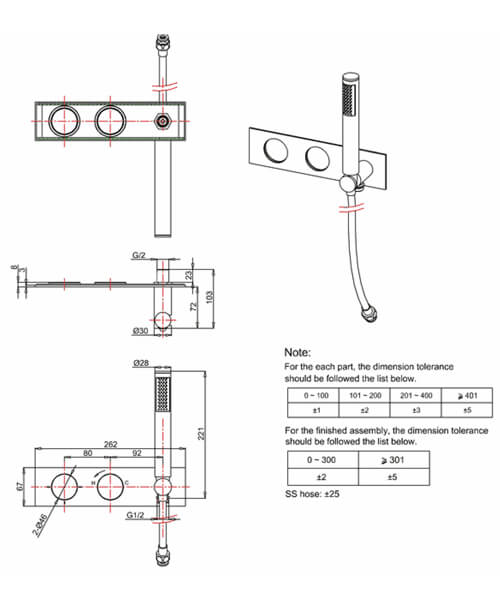 Technical drawing 25364 / TO1701RC