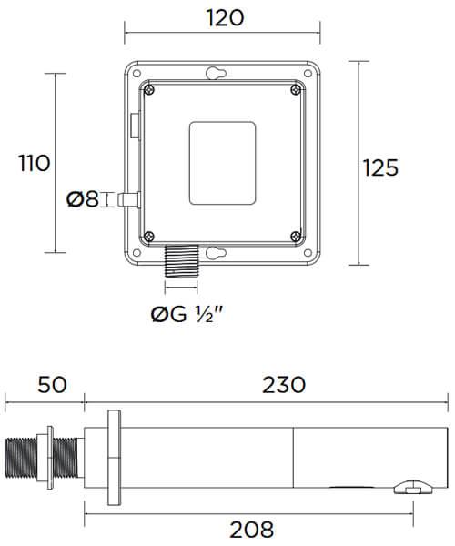 Technical drawing 51285 / IRWS1-CP