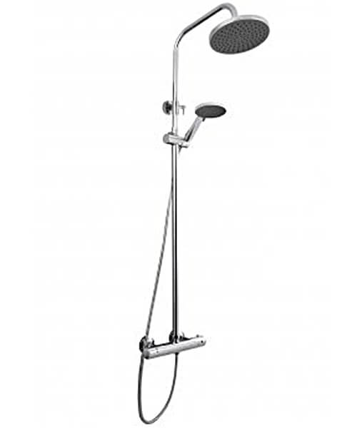 Nuie Premier Round Thermostatic Bar Valve With Telescopic Kit And Handset