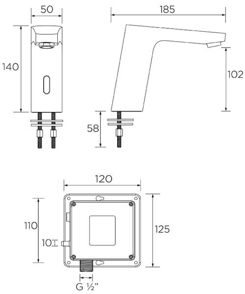 Technical drawing 51284 / IRBS2-CP