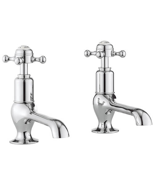 Crosswater Belgravia Chrome Pair Of Long Nose Basin Taps