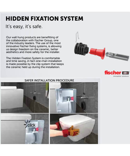 Additional image of RAK Illusion Wall Hung Bidet With Hidden Fixation - 520mm Projection