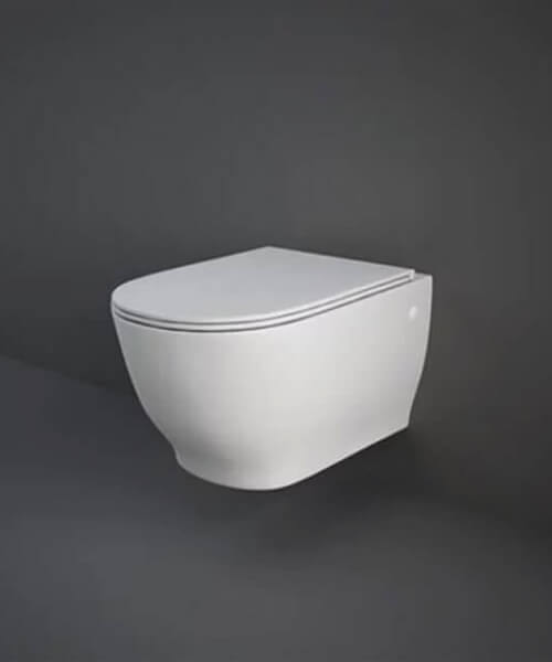 RAK Moon Wall-Hung WC Pan With Urea Soft Close Seat - Projection 560mm