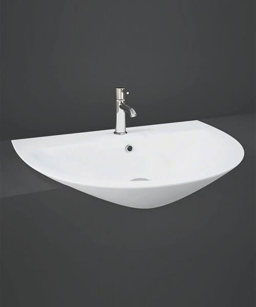 RAK Morning Semi Recessed 550mm Wide Basin With 1 Tap Hole