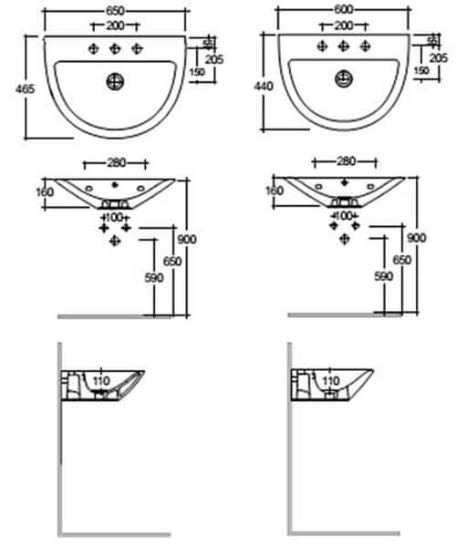 Technical drawing 62766 / MORWB5001AWHA