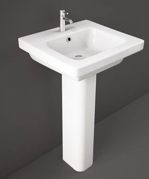 Rak Resort Basin With 1 Tap Hole - W 500 x D 460mm