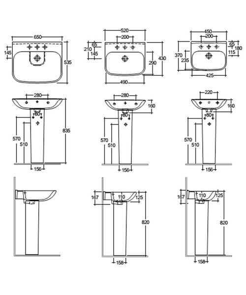 Technical drawing 47400 / ORI6245BAS1