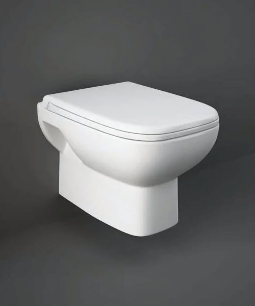 RAK Origin Wall Hung WC Pan With Soft Close Seat - 500mm Projection