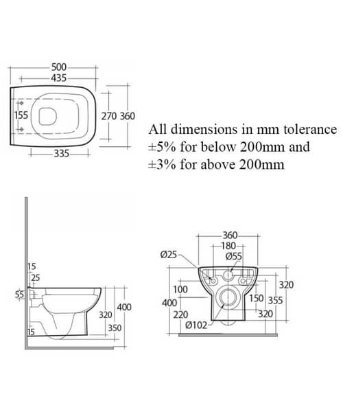 Technical drawing 62769 / ORIWHPAN/SC