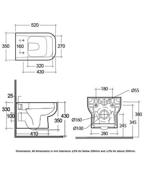 Technical drawing 62785 / S600WHPAN/SC