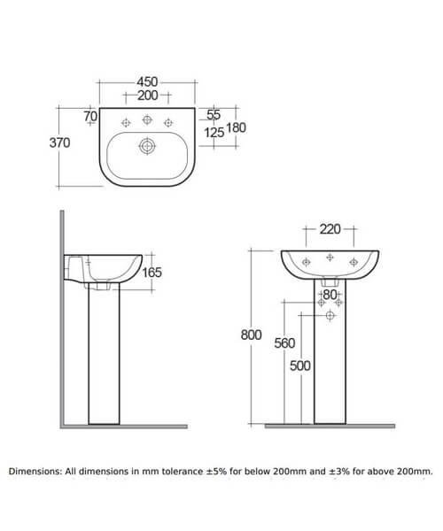 Technical drawing 47231 / TON45BAS1